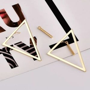 front back bar triangle gold Color ear